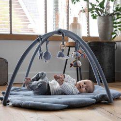 Little Dutch Mata edukacyjna sensoryczna dla niemowląt Błękit