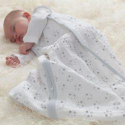 Aden+Anais Śpiworek niemowlęcy z muślinu Lions Classic 6-18m