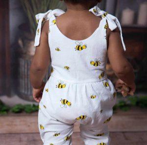 By Royal Baby Rampers Ogrodniczki dla dziewczynki Pszczółka Maja