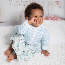 Baby Blue niebieski sweter niemowlęcy