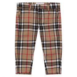 Wizytowe spodnie chłopięce tartan red