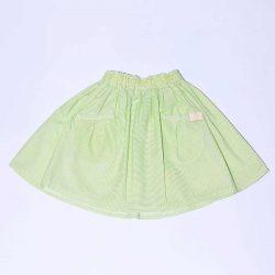 Lemon zielona spódniczka dla dziewczynki w paseczki
