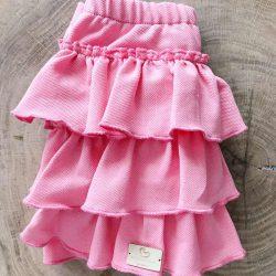 Elisa różowa spódnica z falbankami dla dziewczynki