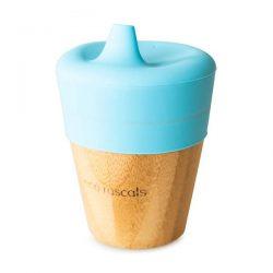 Eco Rascals Kubek bambusowy do picia z silikonową nakładką Błękit