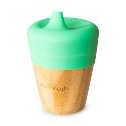 Eco Rascals Kubek bambusowy do picia z silikonową nakładką Miętowy