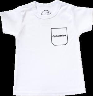 Łubu-Dubu Biała Koszulka niemowlęca z krótkim rękawem #polishtshirt