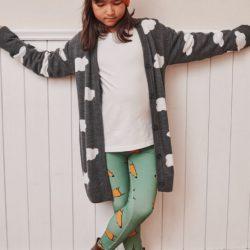 Mamatu Sweter dziecięcy Kardigan dla dziewczynki  SKY gray