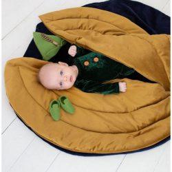 Cozydots Mata edukacyjna dla niemowląt do zabawy z weluru – Mata Beetle