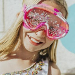 Bling2O Maska do pływania z brokatem różowa
