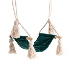 Cozydots Huśtawka do pokoju dziecka – Velvet Boho Swing Forest