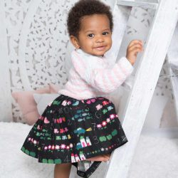 Classic Black spódniczka dla dziewczynki do przedszkola