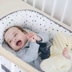 Tiny Star Gniazdko Kokon niemowlęcy Velvet Confetti & Ecru