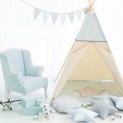 Cozydots Tipi Indiański namiot dla dziecka Light Blue