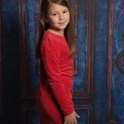 Cocco aksamitna czerwona sukienka dla dziewczynki