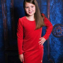 Cocco czerwona sukienka dla dziewczynki na Święta