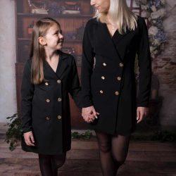 Bloom elegancka żakietowa sukienka marynarka dla mamy i córki