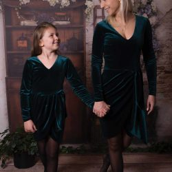 Luna aksamitna elegancka sukienka dla mamy i córki