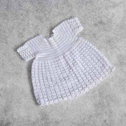 Crystal biała sukienka dla dziewczynki na chrzest święty roczek