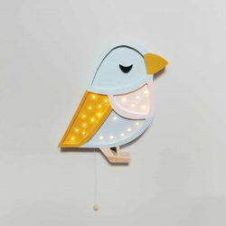 HappyWall Drewniana Lampka dla niemowląt Wróbelek