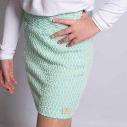 By Royal Baby Collection elegancka miętowa spódniczka dla dziewczynki