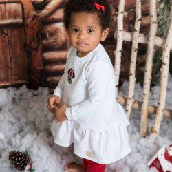 By Royal Baby Collection welurowy  dres dla dziewczynki mała miki