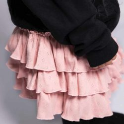 Różowa spódniczka z falbankami dla dziewczynki