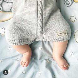 By Royal Baby Collection wełniany rampers śpioszki dla niemowląt