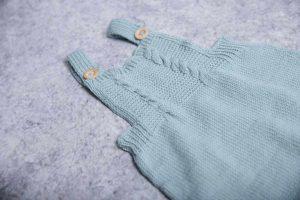 By Royal Baby Handmade Wełniany Eko Rampers dla niemowląt Mint