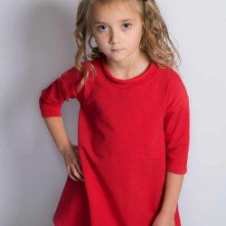 Cherry czerwona sukienka dla dziewczynki