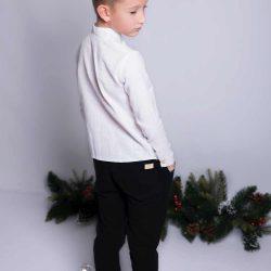 Bawełniane czarne spodnie sportowe dla chłopca