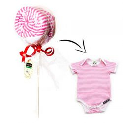 Ah Goo Baby Bawełniane body z krótkim rękawem na prezent truskawka