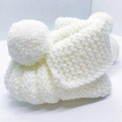 Buciki na chrzest święty dla dziewczynki handmade – 0-6m (56-68 cm)
