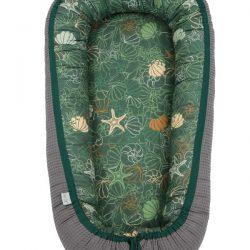 Tiny Star Gniazdko Kokon niemowlęcy bambusowy Shells & Graphite