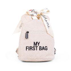 Childhome Plecak dziecięcy do przedszkola My First Bag Teddy Bear White Limited Edition