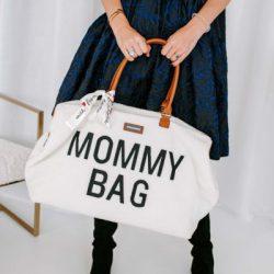 Childhome Torba do wózka  Mommy Bag Teddy Bear White Limited Edition wyprawka
