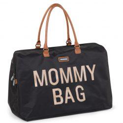 Childhome Torba do wózka Mommy Bag Czarno-Złota wyprawka