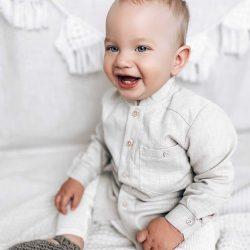 Premium koszula dla chłopca stójka długi rękaw