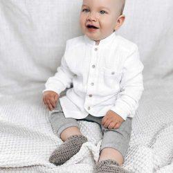 Biała koszula dla chłopca długi rękaw