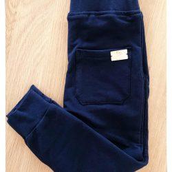 Granatowe bawełniane dresowe spodnie dla chłopca