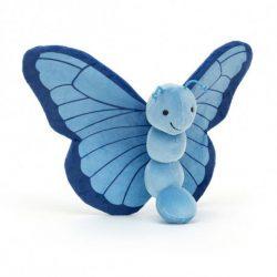 JellyCat Breezy Butterfly Iris Motyl pluszak dla niemowląt 23 cm