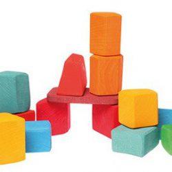Grimm's Klocki drewniane kolorowe do budowania 0+