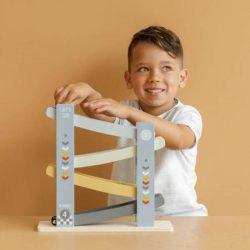 Little Dutch Drewniana zabawka dla dziecka Zjeżdżalnia Błękit