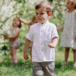 Elegancka koszula muślinowa dla chłopca