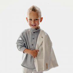 Polo szara koszulka dla chłopca t-shirt