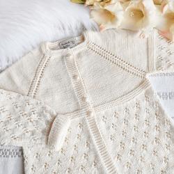 Kardigan dla dziewczynki sweterek niemowlęcy handmade