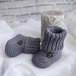 Buty niemowlęce handmade wełniane